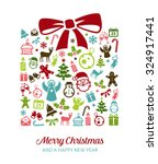 christmas greetings card   ... | Shutterstock .eps vector #324917441