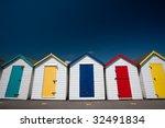 Colorful Beach Huts