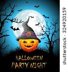 happy halloween party night | Shutterstock .eps vector #324920159