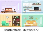 set of colorful vector interior ... | Shutterstock .eps vector #324920477