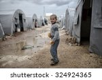 syrian refugees families who...   Shutterstock . vector #324924365