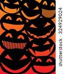 halloween pumpkins templates... | Shutterstock .eps vector #324929024