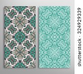 vertical seamless floral... | Shutterstock .eps vector #324929339