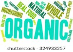 organic word cloud on a white... | Shutterstock .eps vector #324933257
