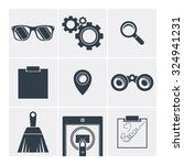 set of vector icons flat ... | Shutterstock .eps vector #324941231