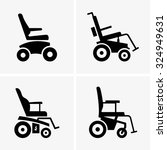 self propelled wheelchairs | Shutterstock .eps vector #324949631