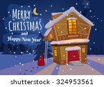 merry christmas and happy new...   Shutterstock .eps vector #324953561