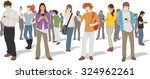 group of people with smart... | Shutterstock .eps vector #324962261