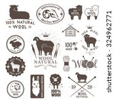 wool labels  stickers and logos.... | Shutterstock .eps vector #324962771