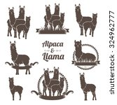 Alpaca And Llams Emblems...