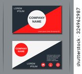 modern business visiting card ... | Shutterstock .eps vector #324962987