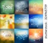 halloween timeline... | Shutterstock .eps vector #324965759