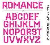 romantic decorative vector font.... | Shutterstock .eps vector #324967961