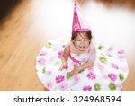 Little Girl Playing Princess