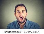 shocked man    Shutterstock . vector #324976514