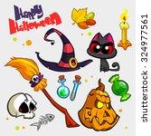 vector set of halloween pumpkin ...