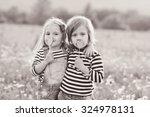 Two Little Friends Girls In Th...