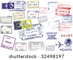 passport stamps. this image is... | Shutterstock .eps vector #32498197