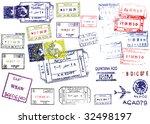 passport stamps. this image is...   Shutterstock .eps vector #32498197