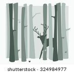 green gray scene in the woods... | Shutterstock .eps vector #324984977