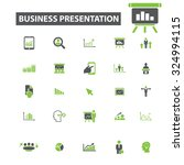 business presentation icons | Shutterstock .eps vector #324994115