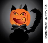 black cat masked with halloween ... | Shutterstock .eps vector #324997715