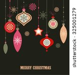 christmas decorations. vector... | Shutterstock .eps vector #325001279