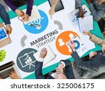 marketing strategy branding... | Shutterstock . vector #325006175