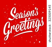 Season Greetings Typography Ar...