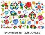 vector floral set of flowers ...   Shutterstock .eps vector #325009661