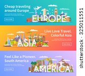 beautiful set of flat vector... | Shutterstock .eps vector #325011551