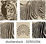 the vector animal and skin set | Shutterstock .eps vector #32501356