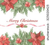 christmas greeting card. merry... | Shutterstock . vector #325020425
