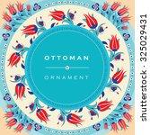 ottoman style invitation card | Shutterstock .eps vector #325029431