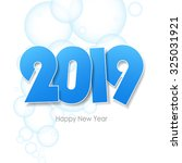 happy new year 2019  greeting... | Shutterstock .eps vector #325031921