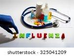 diagnosis   influenza. medical... | Shutterstock . vector #325041209