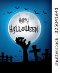 happy halloween hand out from... | Shutterstock . vector #325041641