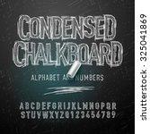 condensed chalk alphabet... | Shutterstock .eps vector #325041869