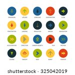 round icons thin flat design ... | Shutterstock .eps vector #325042019