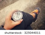 selfie of drink water | Shutterstock . vector #325044011