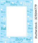 Cute Blue Frame   Border With...