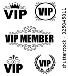 collection of elegant vip... | Shutterstock . vector #325045811
