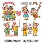 cartoon illustration of sweet...   Shutterstock .eps vector #325050209