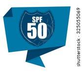 blue spf 50 shield origami... | Shutterstock . vector #325055069