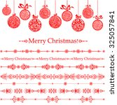 merry christmas  collection of... | Shutterstock .eps vector #325057841