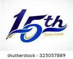 15th years anniversary... | Shutterstock .eps vector #325057889