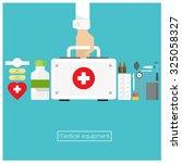 vector medicine bag aid box... | Shutterstock .eps vector #325058327