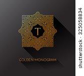 Golden Elegant Monogram With...