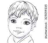 portrait of a happy baby ...   Shutterstock .eps vector #325059335