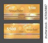 gift voucher template. can be... | Shutterstock .eps vector #325065887